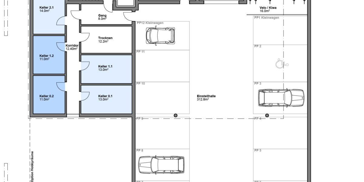 """6.5 Zimmer Attikawohnung (Variante) Wohnung 2.1 """"Residenz Zentaur"""" Eglisau"""