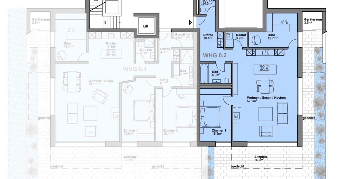 """3.5 Zimmerwohnung Wohnung 0.2 """"Residenz Zentaur"""" Eglisau"""