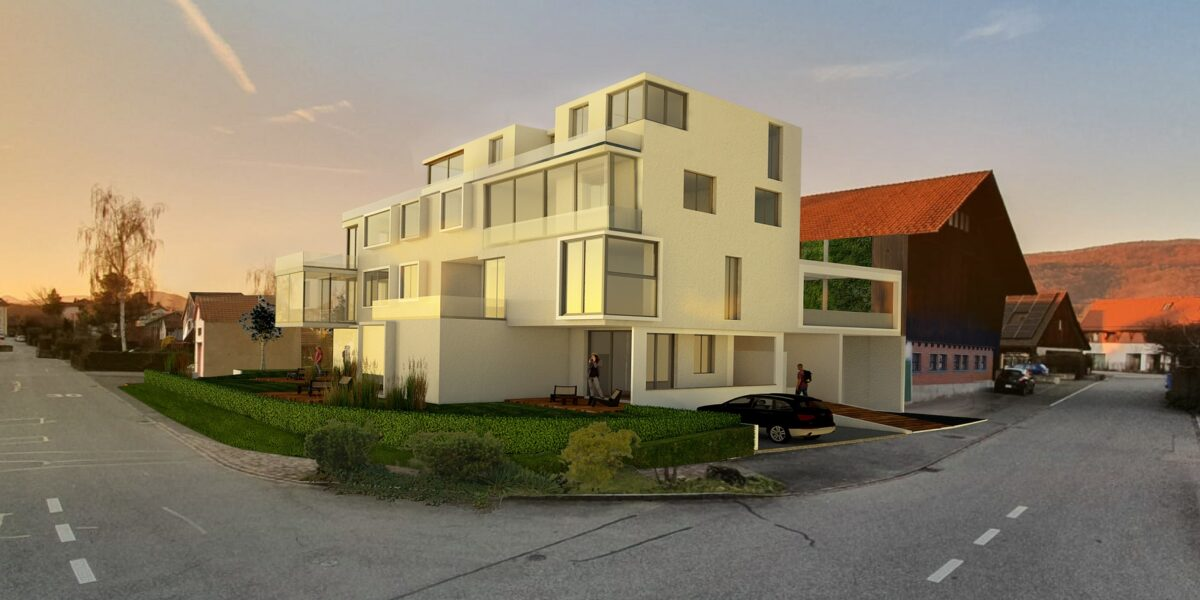 3.5 Zimmerwohnung, Wohnung 1.2, MFH Hinterdorfstrasse 19, Aarau-Rohr