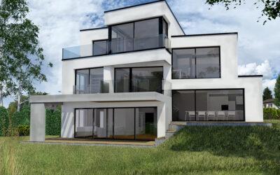 Baueingabe ist erfolgt | Zeitgenössisches Einfamilienhaus in Schlieren