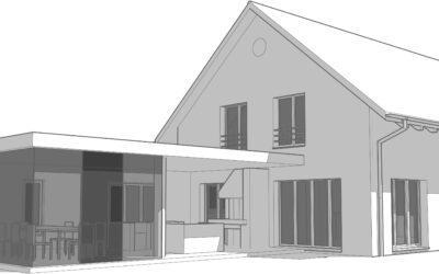 NEUGESTALTUNG | Einfamilienhaus in Rafz – Anbau mit Cheminée